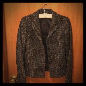 Theory black and white tweed blazer sz0